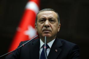 Erdogan addresses members of parliament from his ruling AK Party (AKP). Reuters/Umit Bektas