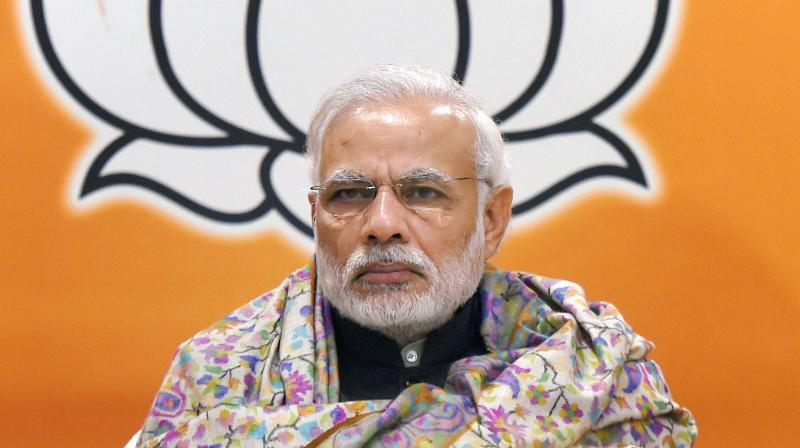 Modi has made no secret of his disdain for the media and has only given carefully choreographed interviews to two friendly channels. Credit: PTI