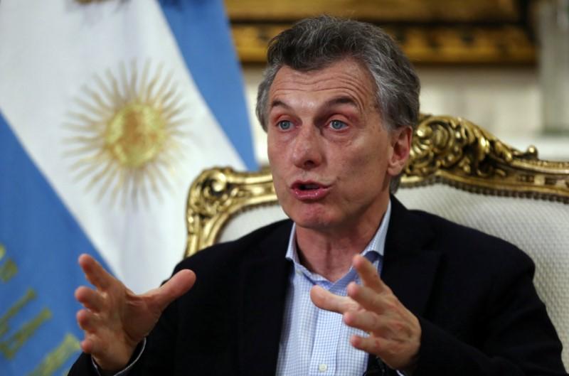 Argentina's center-right President Mauricio Macri. Credit: Reuters