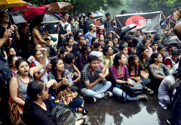 Jadavpur University sit-in over student election