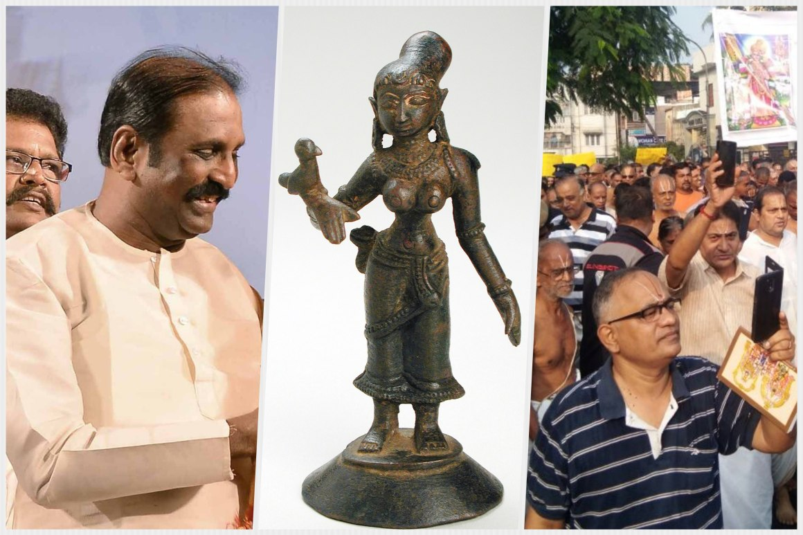 Indywatch Feed Asia Circuit Board Pakoh From Left To Right Tamil Poet Vairamuthu Sculpture Of Andal Picture Protests In Nadu The Past Week Over Vaiaramuthu Writing That May Have