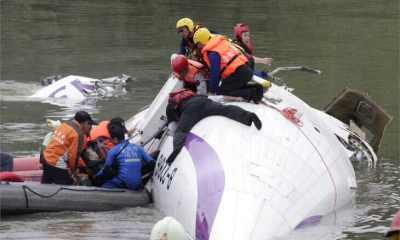 TransAsia plane crashes into Taiwan river, 23 killed