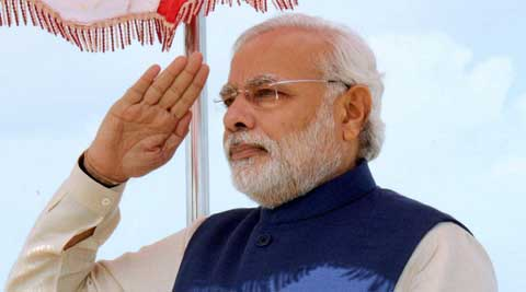 Narendra Modi,flag code violation