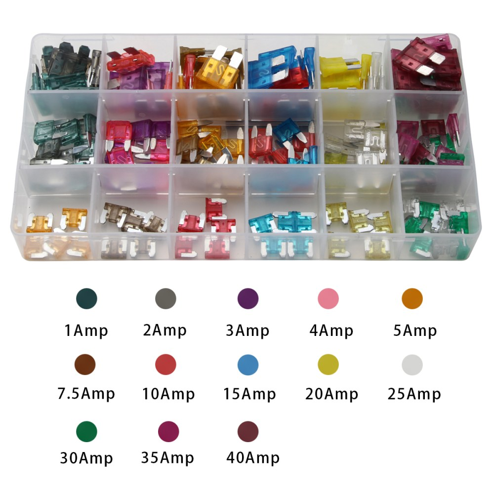 medium resolution of details about new 165pc mini blade fuse assortment auto car motorcycle suv fuses kits apm atm