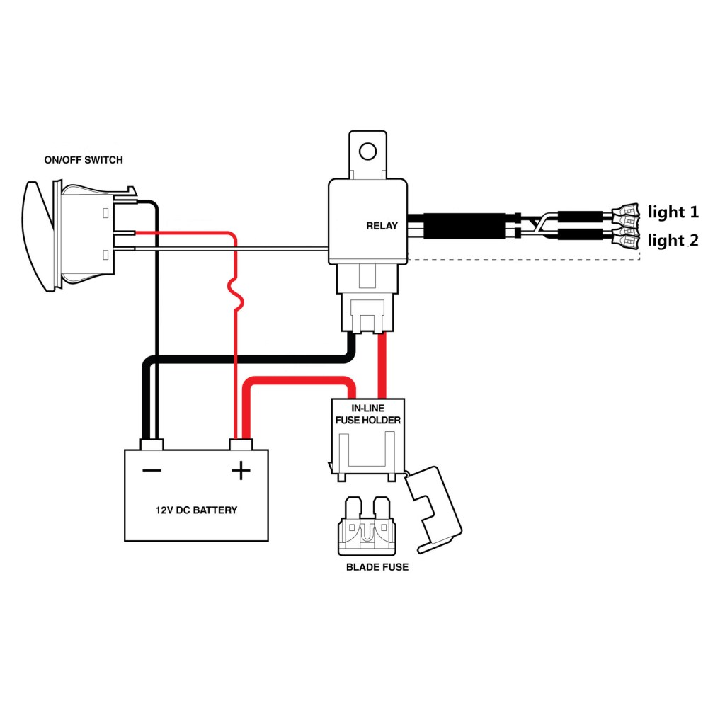 medium resolution of 1 wiring harness 100 brand new wattage max 300w colour black relay 12v 40a fuse 30a