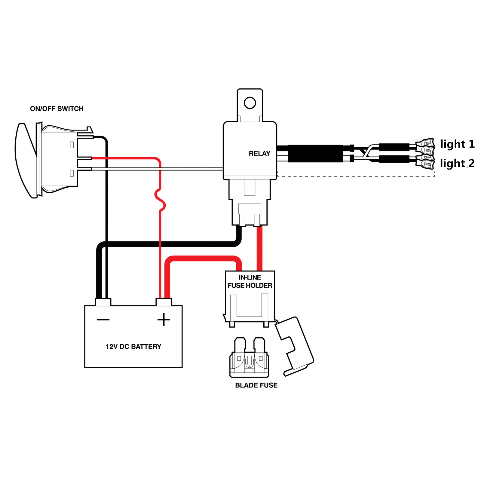 hight resolution of wiring harness 100 brand new wattage max 300w colour black relay 12v 40a fuse 30a