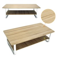 Modern Tea Table Coffee Table Double Shelf Storage Space ...