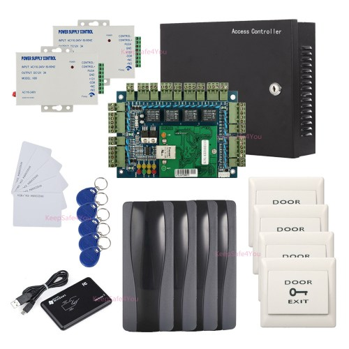small resolution of details about tcpip 4 door access control board systems kit 110v power supply box rfid reader