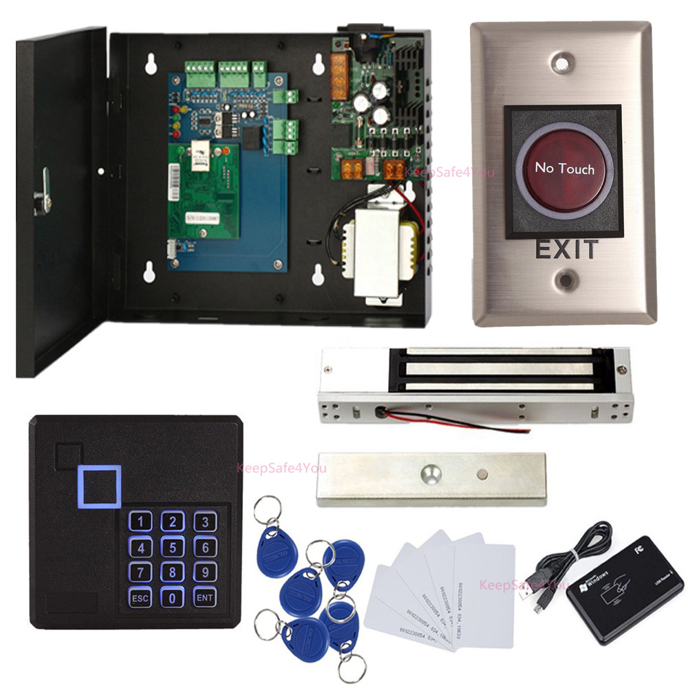 hight resolution of details about single door access systems kit infrared exit button magnetic lock keypad reader