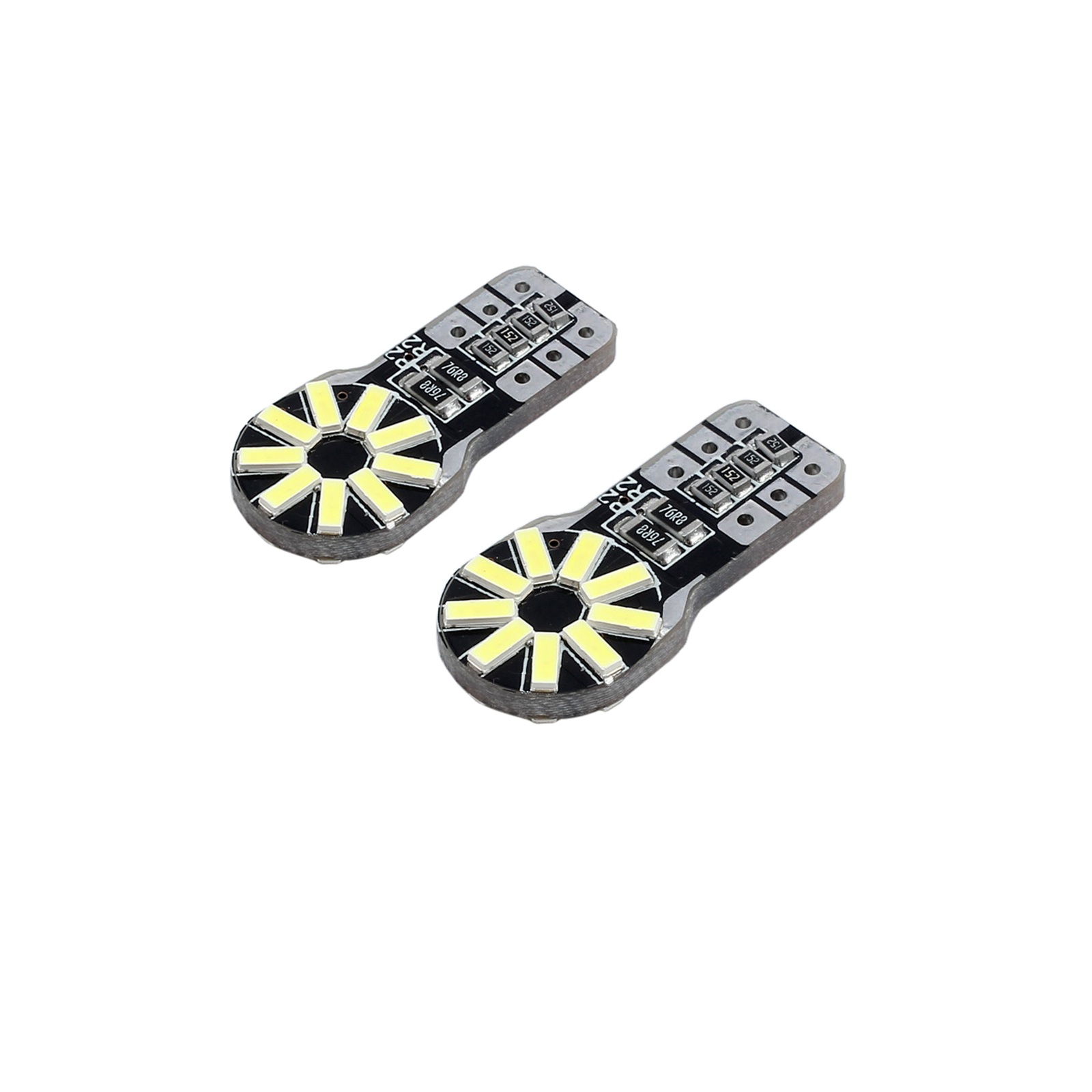 2x T10 501 W5w 194 Wedge Canbus Bulbs 18 Led Smd Bright
