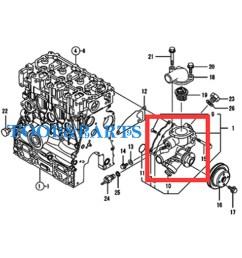 details about water pump for yanmar engine 3tnv70 xmhs 3tnv70 xhbt 3tnv70 xhb [ 1600 x 1600 Pixel ]