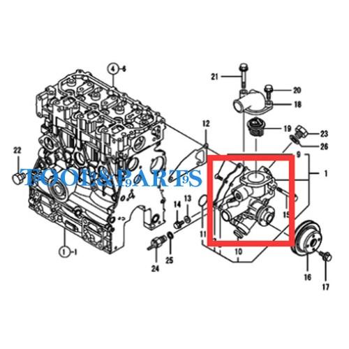 small resolution of details about water pump for yanmar engine 3tnv70 xmhs 3tnv70 xhbt 3tnv70 xhb