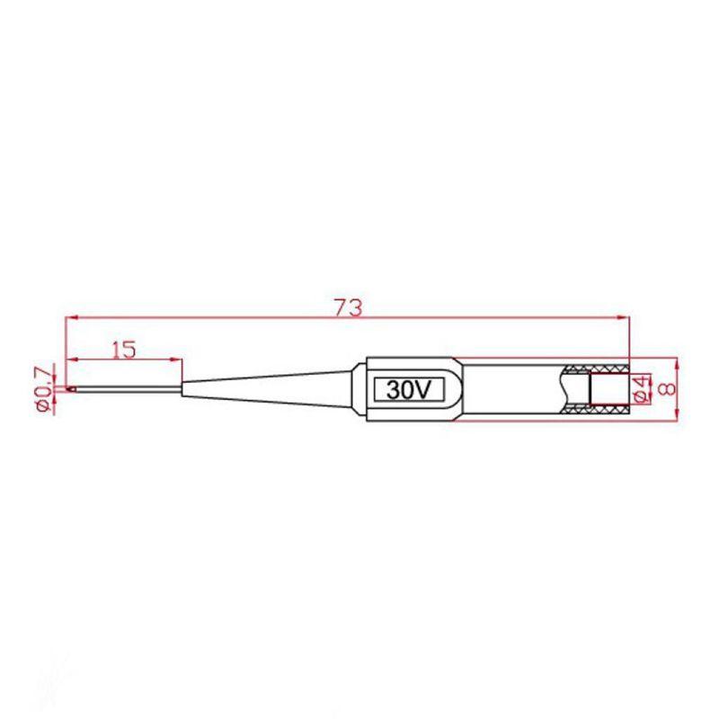 4pcs Needle Tip Test Probes Multimeter Test Lead Extention