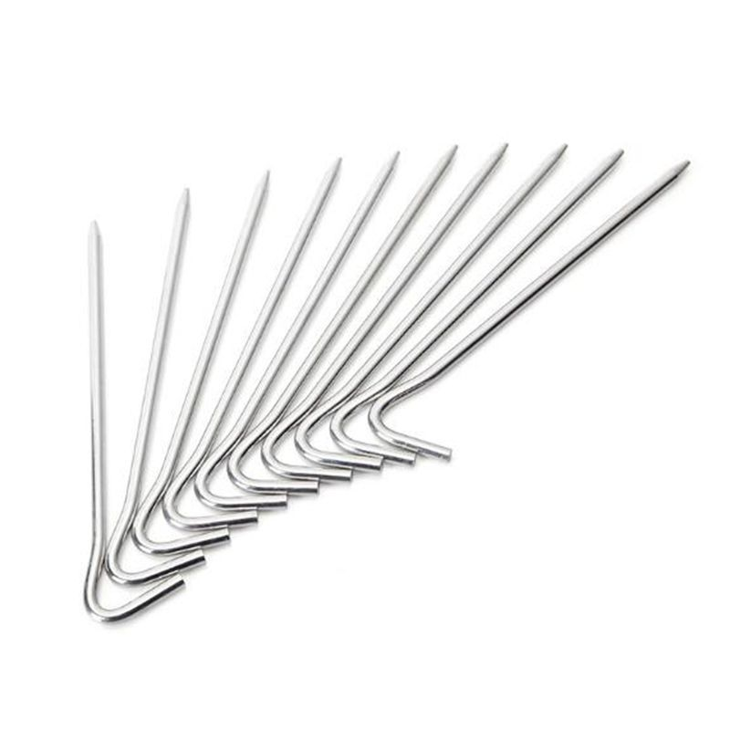 10pcs Spike Camping Stake Nail Aluminum Alloy Tent Hook