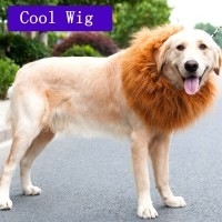 HOT Pet Costume Lion Mane Wig For Dog Halloween Cloth