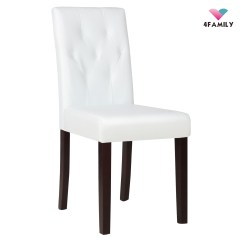 Tufted Dining Room Chairs Grey Fabric With Black Legs Elegant Ivory White Leather Chair Kitchen