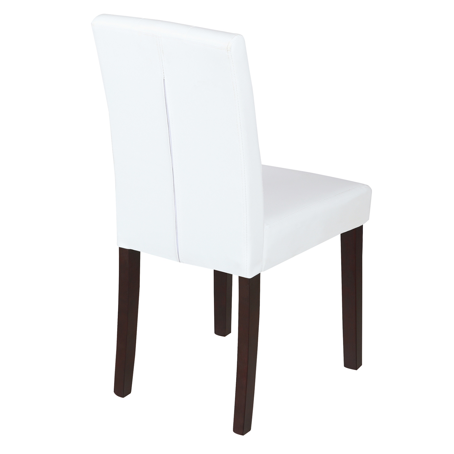 Elegant Ivory White Leather Dining Room Chair Kitchen