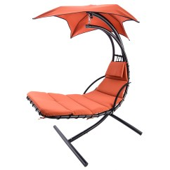 Hammock Chair With Canopy Exercise Up Hanging Steel Chaise Lounger Arc Stand Swing