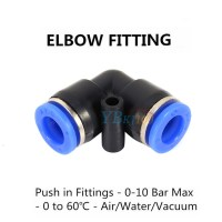 32 Size Pneumatic Push In Fittings Air Valve Water Hose