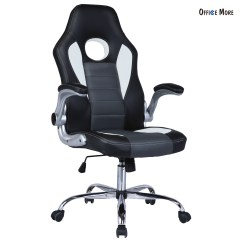 Leather Bucket Chair Ergonomic Without Back Executive Swivel Racing Style Office Desk