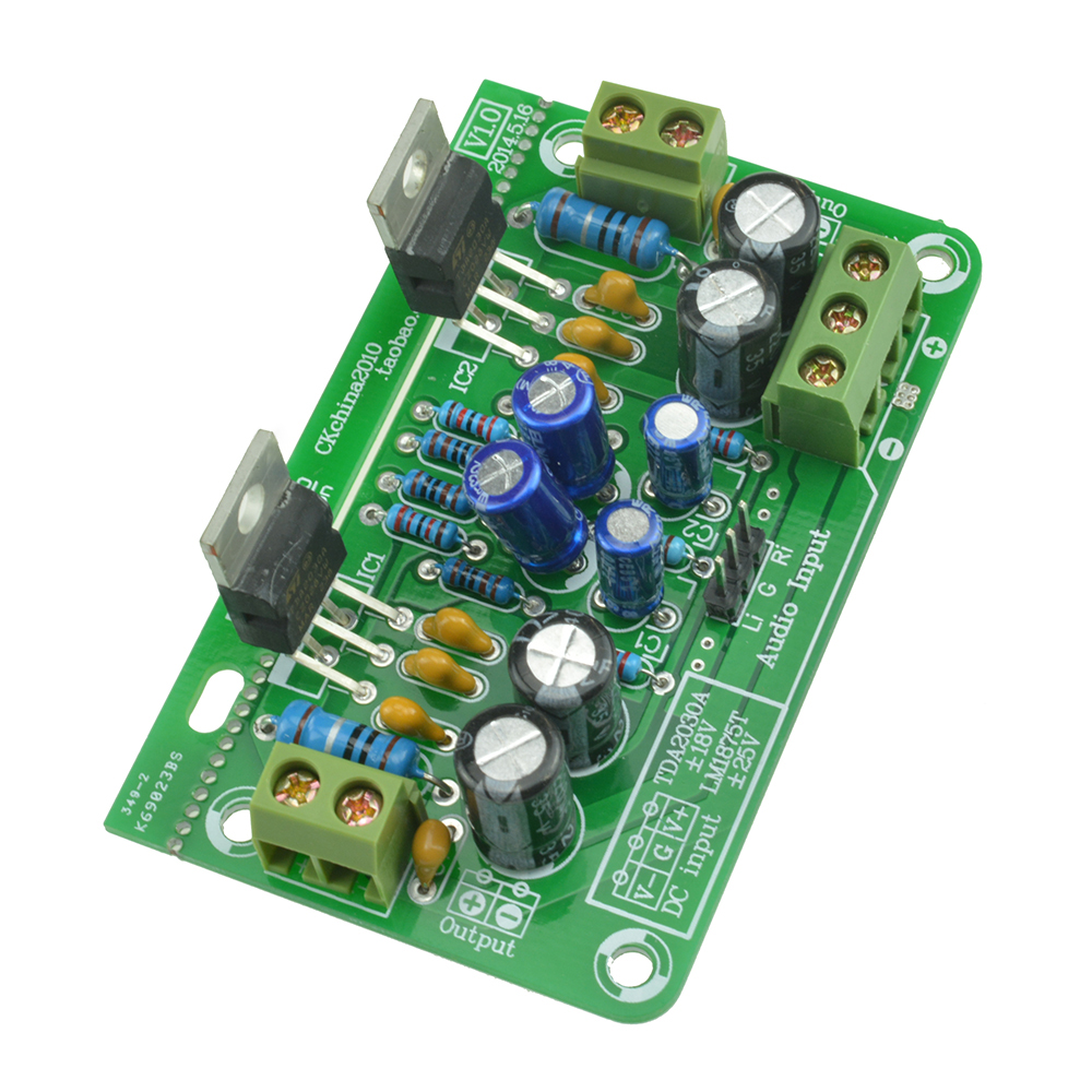 14 Watt Stereo Amplifier Ocl By Tda2030