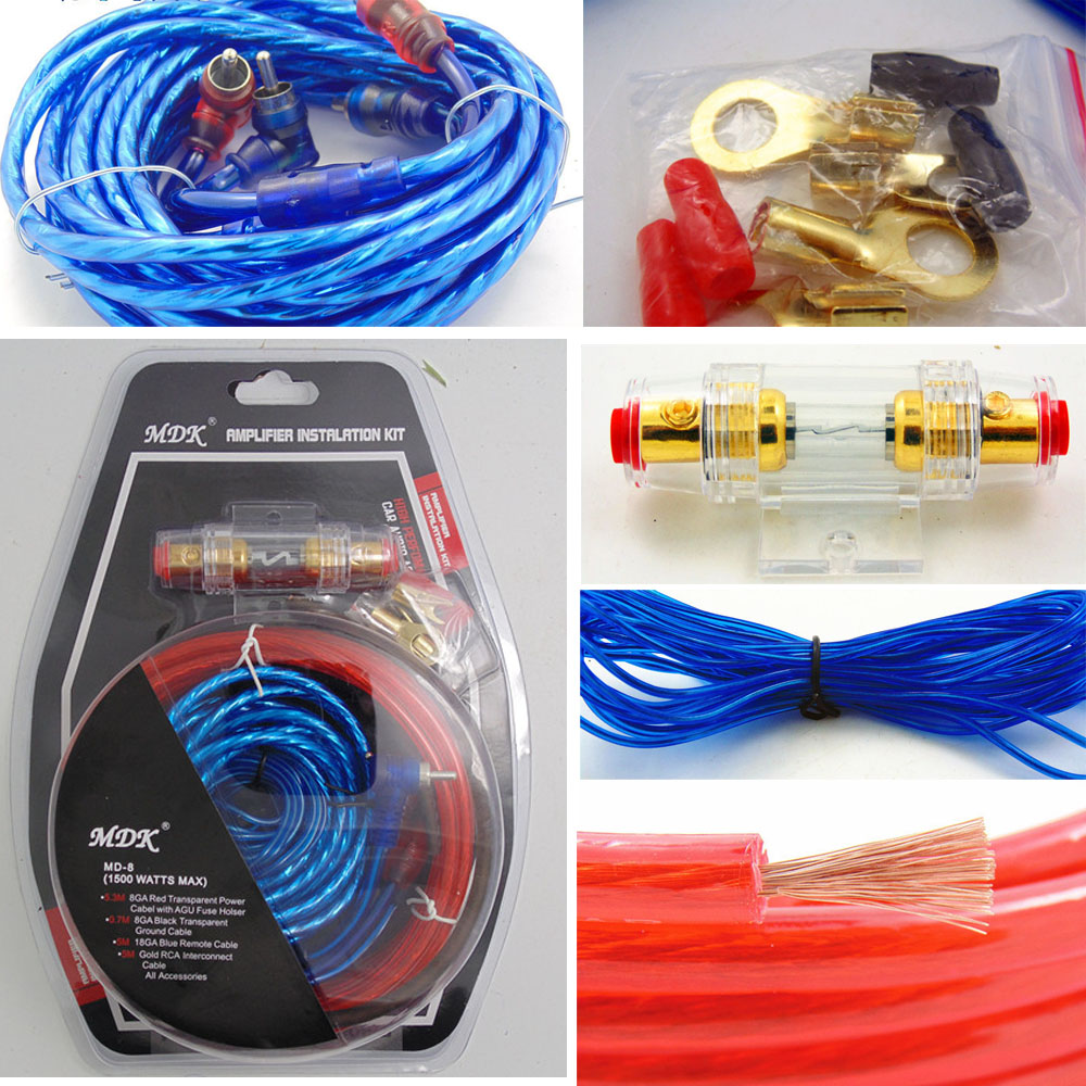 Car Audio Subwoofer Amplifier Amp Wiring Fuse Holder Wire Cable Kit