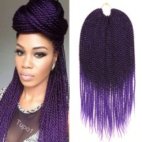 "18"" Crochet Braids Kanekalon Braiding Hair Ombre Purple"