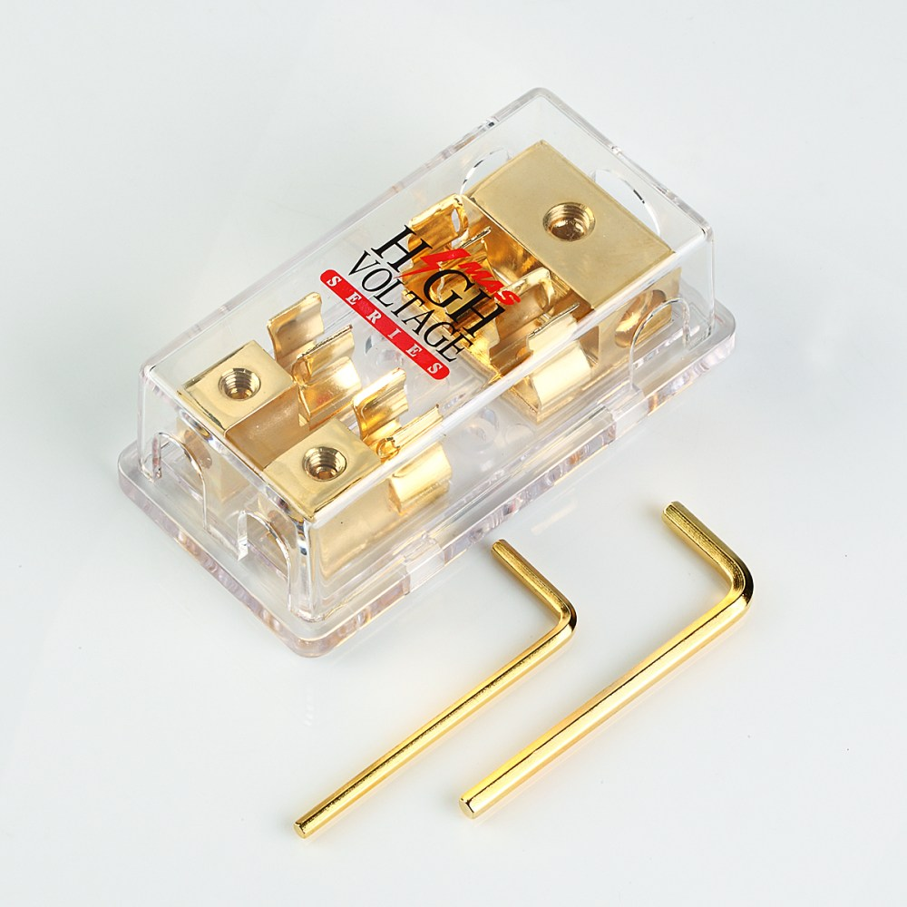 medium resolution of details about gold plated mongoose 2 gang agu fuse block three 4 gauge input two 8 ga output