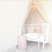Pink Princess Cotton Cloth Round Bedding Hanging Canopy ...