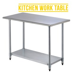 Industrial Kitchen Table Oval Pedestal 2ft4ft Commercial Stainless Steel Restaurant Work