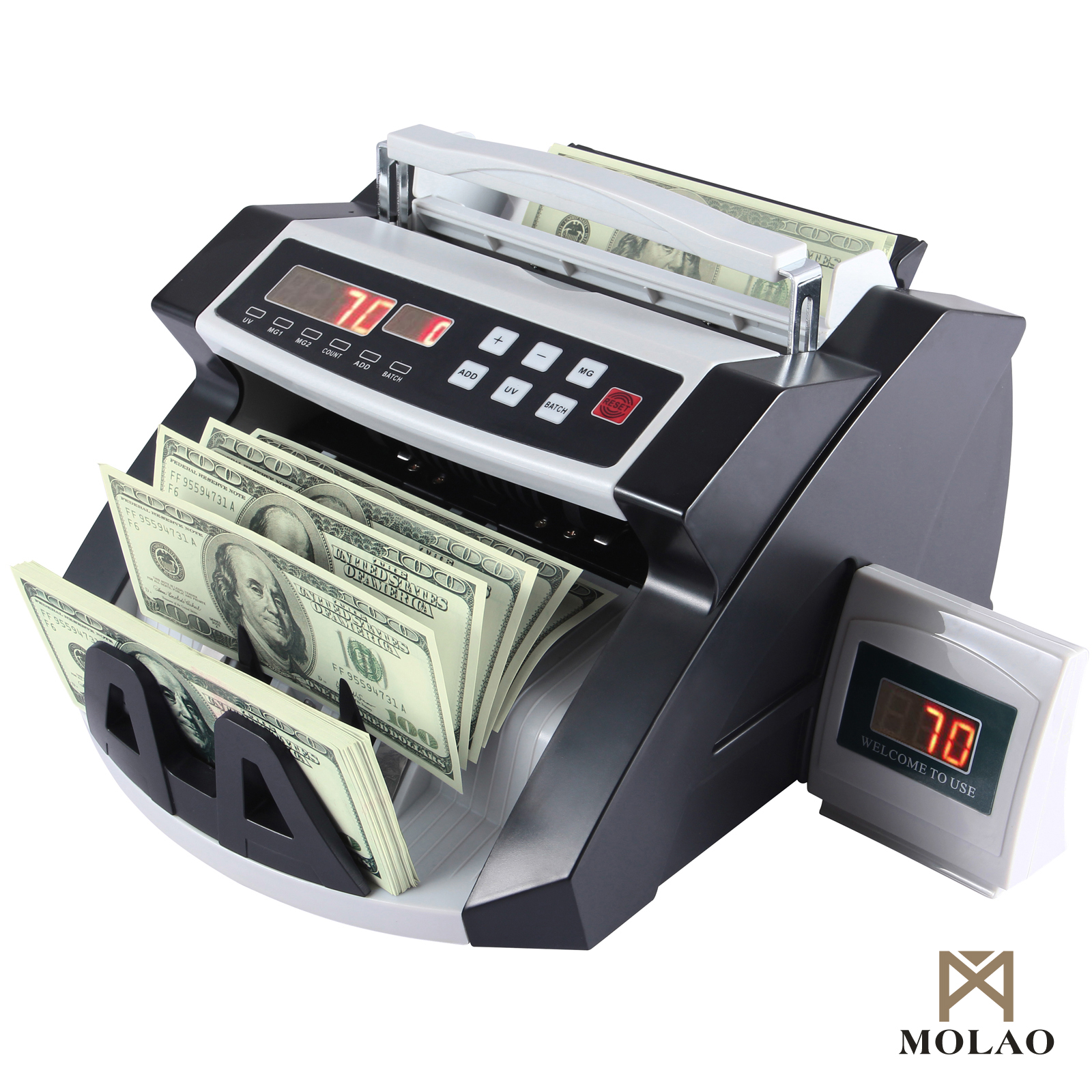 Money Bill Cash Counter Bank Currency Counting Machine Uv