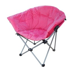 Pink Folding Camping Chair Black High Back Chairs Fold Outdoor Stool Seat Heavy Duty