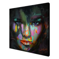 READY TO HANG CANVAS WALL ART ABSTRACT OIL PAINTING LADY ...