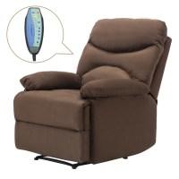 Ergonomic Lounge Heated Microfiber Massage Recliner Sofa ...