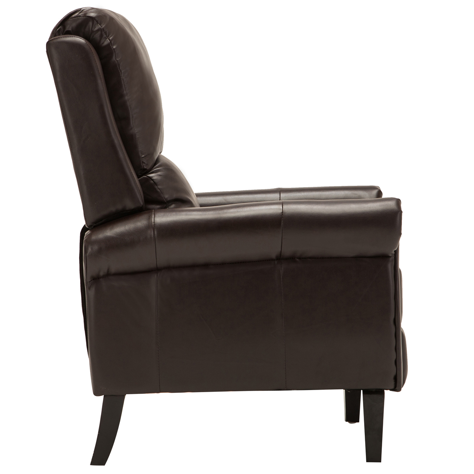 brown leather sofa accent chair with chairs recliner armchair w leg rest