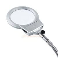 Large Lens Lighted Lamp Top Desk Magnifier Magnifying