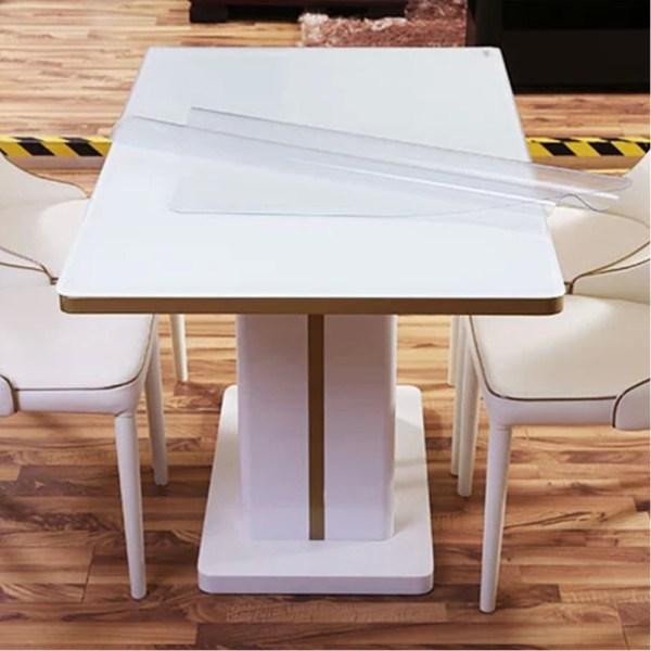 Yazi Pvc Clear Tablecloth Waterproof Table Protector Kitchen Dining Room Decor