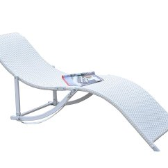 Summer Chaise Lounge Chairs Damask Chair Covers Rattan Wicker Outdoor Patio Recliner 2