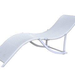 Wicker Chaise Lounge Chairs Outdoor Painted Dining Rattan Patio Chair Recliner 2