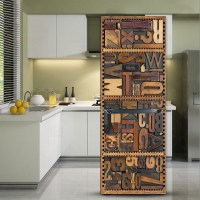 yazi Fridge Refrigerator Door Sticker Cover PVC Wall