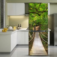 yazi Fridge Refrigerator Door Sticker Cover PVC Wall ...