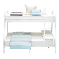 Twin over Full Metal Bunk Beds Kids Teens Dorm Bedroom ...