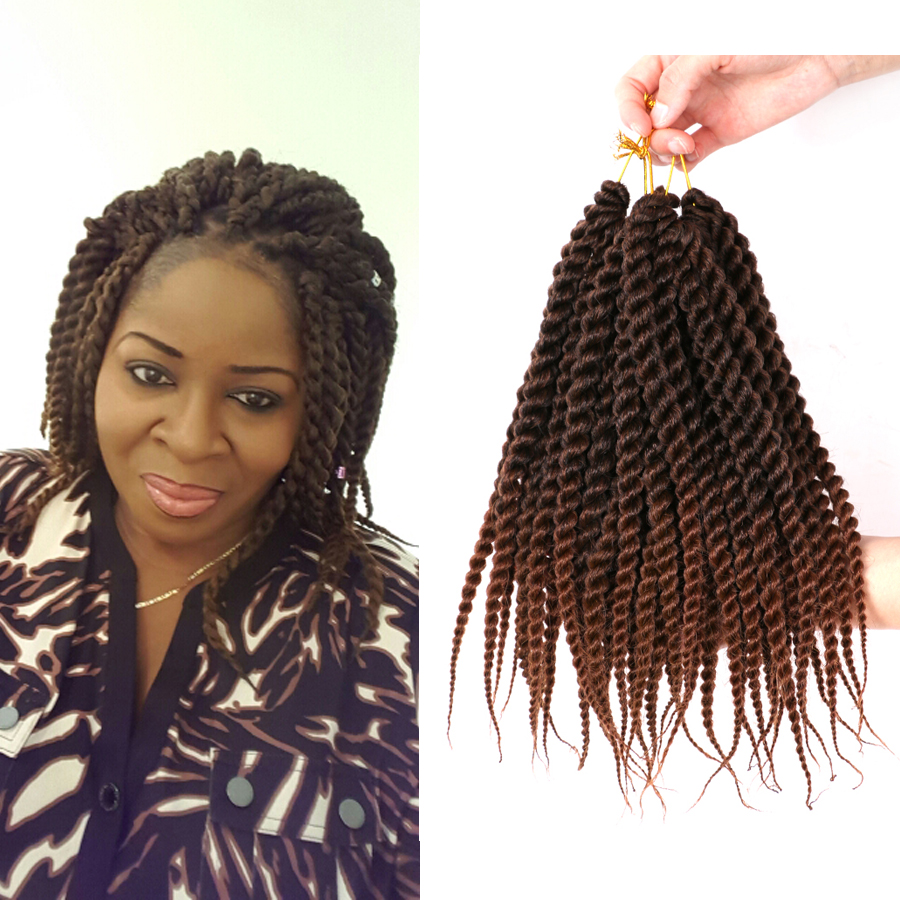 "Mambo Twist Crochet Braids Hair 12"" Synthetic Kanekalon"