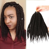 "Mambo Twist Crochet Braids Hair 12"" Synthetic Kanekalon ..."
