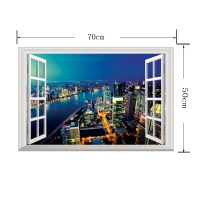6 Styles Modren Window 3d Wall Paper Wall Print Decal Deco ...