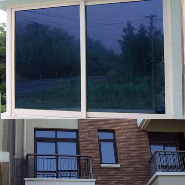Blue Window Film Mirrored Reflective Tint Adhesive Privacy Glass
