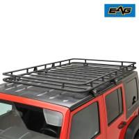 EAG Black Steel Roof Rack Cargo Basket for 07-17 Jeep ...