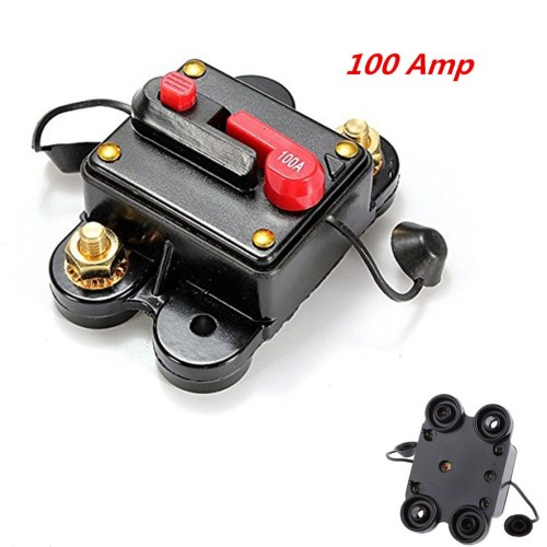 small resolution of 100 amp high current circuit breaker works with 12v 24v 48vdc stops power surges from damaging your amps mount on panel or firewall