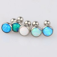 16G Opal Ear Cartilage Tragus Helix Bar Earring Stud ...