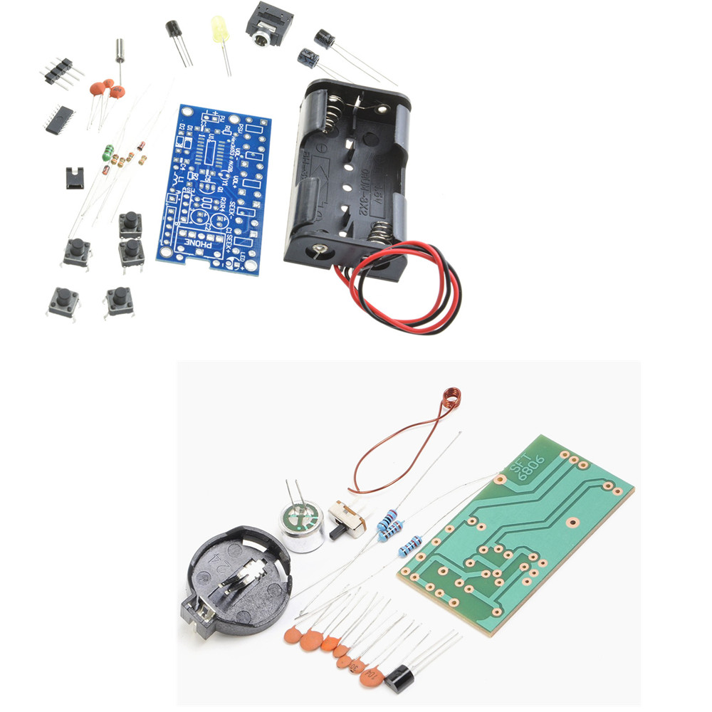 medium resolution of fm radio receiver module frequency modulation wireless microphone electronics diy kit 6806 fm wireless microphone mic circuit board kit